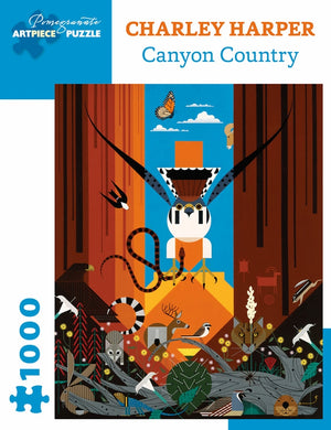 "Charley Harper ""Canyon Country"" 1000-Piece Jigsaw Puzzle"
