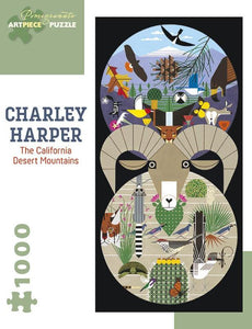 Charley Harper The California Desert Mountains 1000-Piece Jigsaw Puzzle