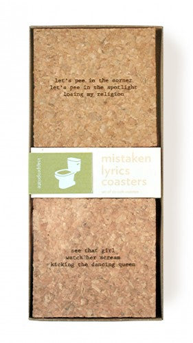 Mistaken Lyric Coaster Set - Potty