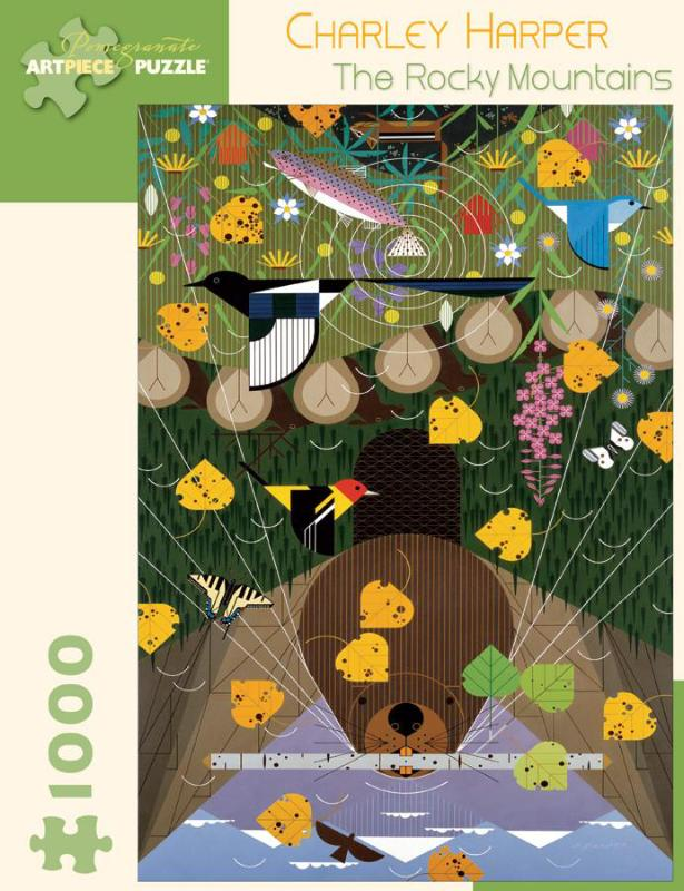 Charley Harper The Rocky Mountains 1000-Piece Jigsaw Puzzle