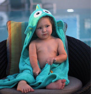 Yikes Twins - Tropical Fish Hooded towel