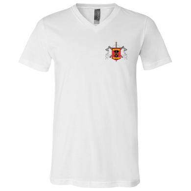 Clan Bella + Canvas Unisex Jersey SS V-Neck T-Shirt