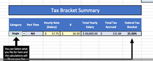 Variable Budget Template