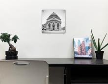 Load image into Gallery viewer, Black and White Buffalo Savings Bank Photography on Acrylic Board Print