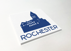 Rochester City Hall Blue ABS Plastic Coaster 4 Pack Designed and Handcrafted in Buffalo NY