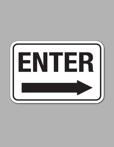 Enter Right Arrow (Long) - Traffic Sign