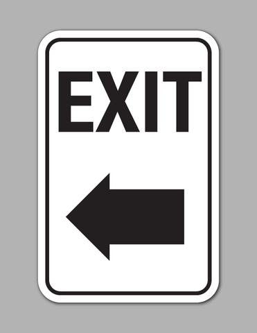 Exit Left Arrow - Traffic Sign
