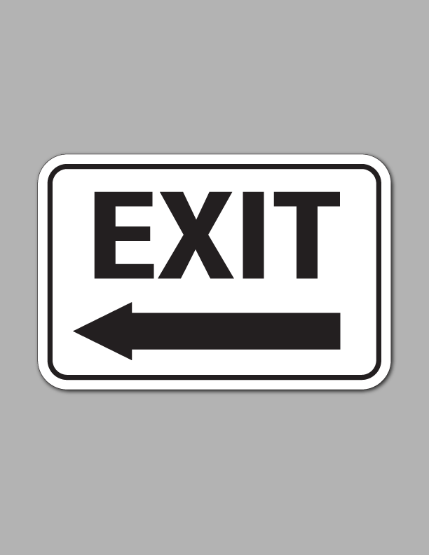 Exit Left Arrow (Long) - Traffic Sign