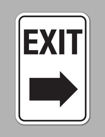 Exit Right Arrow - Traffic Sign