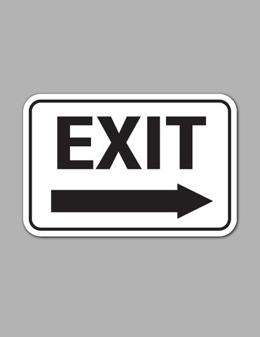 Exit Right Arrow (Long) - Traffic Sign