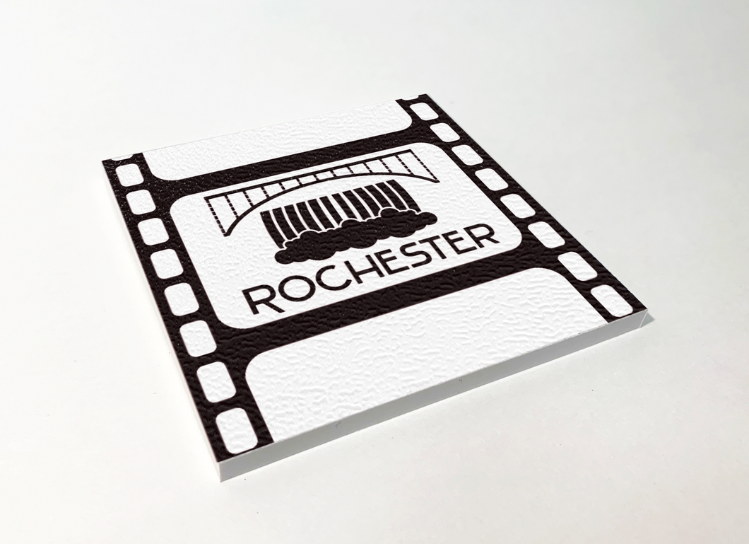 Rochester Lower Falls Filmstrip ABS Plastic Coaster 4 Pack Designed and Handcrafted in Buffalo NY