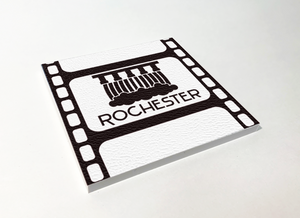 Rochester Upper Falls Filmstrip ABS Plastic Coaster 4 Pack Designed and Handcrafted in Buffalo NY