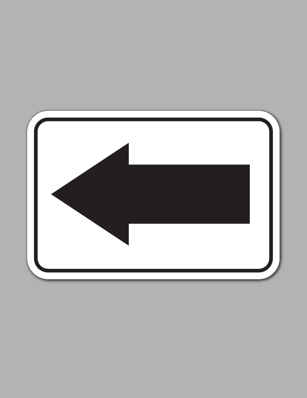 Left Arrow - Safety Sign