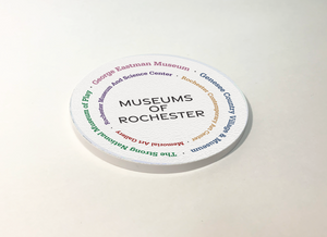 Rochester Museums Circular ABS Plastic Coaster 4 Pack Designed and Handcrafted in Buffalo NY