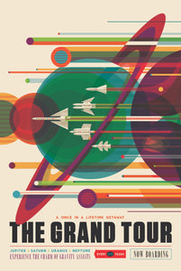 NASA The Grand Tour Vintage Travel Poster Art on ABS