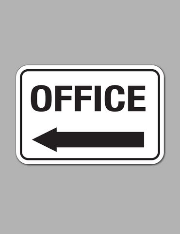 Office Left Arrow (Long) - Traffic Sign