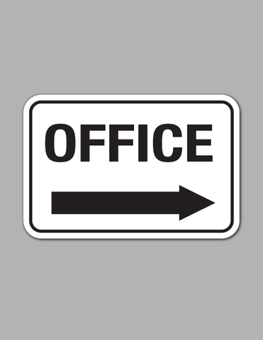 Office Right Arrow (Long) - Traffic Sign