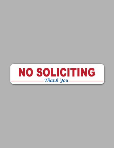 No Soliciting (Red) - Wall Sign