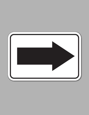 Right Arrow- Safety Sign
