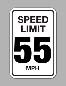 Speed Limit 55 MPH - Traffic Sign