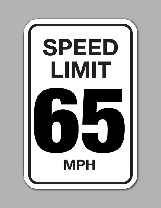Speed Limit 65 MPH - Traffic Sign