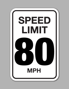 Speed Limit 80 MPH - Traffic Sign