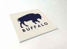 Load image into Gallery viewer, Buffalo Classic White Square Coaster 4 Pack Designed and Handcrafted in Buffalo NY