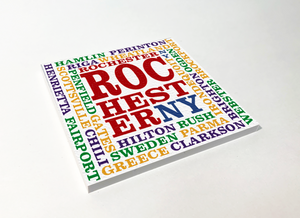Rochester Townships Artistic Word Cloud ABS Plastic Coaster 4 Pack Designed and Handcrafted in Buffalo NY