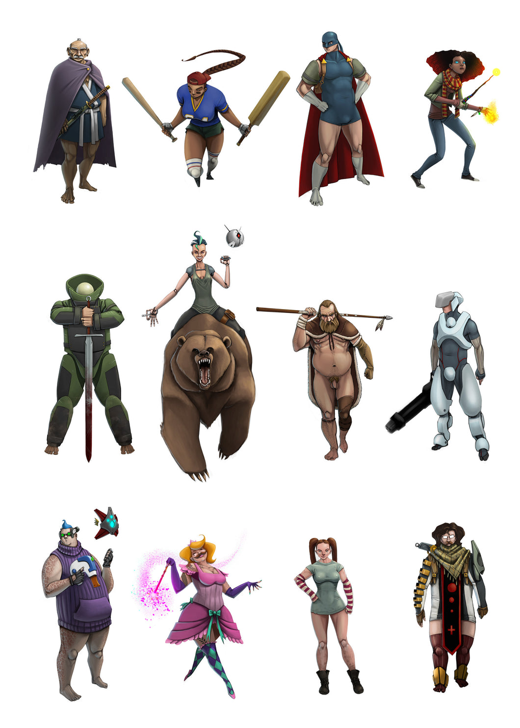 Character Ideas by Ben Schultz
