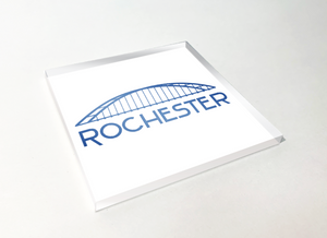 Rochester Blue Bridge Acrylic Plastic Coaster 4 Pack Designed and Handcrafted in Buffalo NY