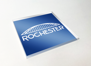 Rochester White Bridge Acrylic Plastic Coaster 4 Pack Designed and Handcrafted in Buffalo NY
