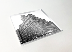 Powers Building Rochester Acrylic Plastic Coaster 4 Pack Designed and Handcrafted in Buffalo NY