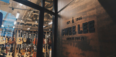 The entrance to Swee Lee Music Store