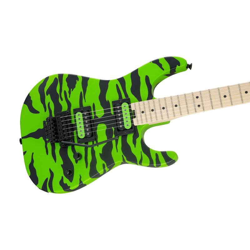 Charvel Satchel Signature Pro Mod DK Electric Guitar, Maple FB, Slime Green Bengal