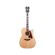 D'Angelico Premier Bowery Acoustic Guitar w/Cutaway & Electronics, Natural