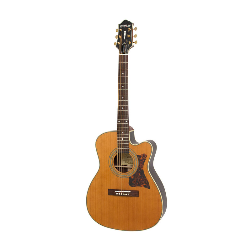 Epiphone Masterbilt EF-500RCCE Fingerstyle Acoustic/Electric Guitar, Natural Satin