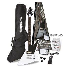 Epiphone PRO-1 Explorer Electric Guitar Package, Alpine White