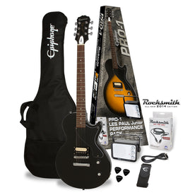 Epiphone PRO-1 Les Paul Jr Electric Guitar Package, Ebony