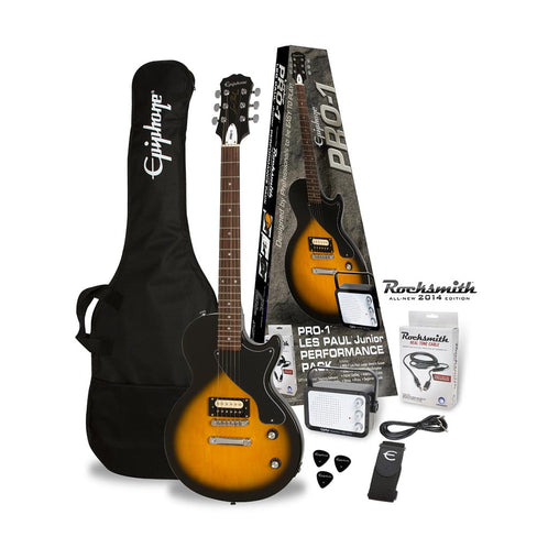 Epiphone PRO-1 Les Paul Jr Electric Guitar Package, Vintage Sunburst