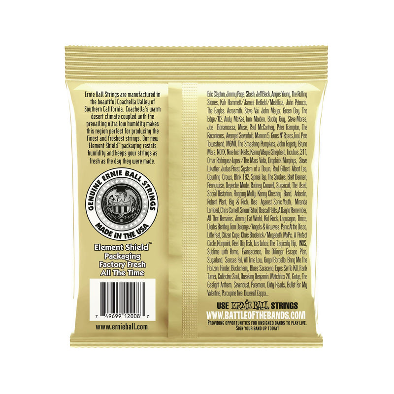 Ernie Ball Earthwood Rock and Blues w/Plain G 80/20 Bronze Acoustic Guitar Strings, 10-52