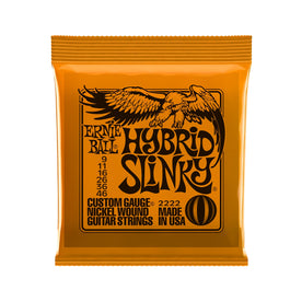 Ernie Ball Hybrid Slinky Nickel Wound Electric Guitar Strings, 9-46