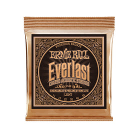 Ernie Ball Everlast Light Coated Phosphor Bronze Acoustic Guitar Strings, 11-52
