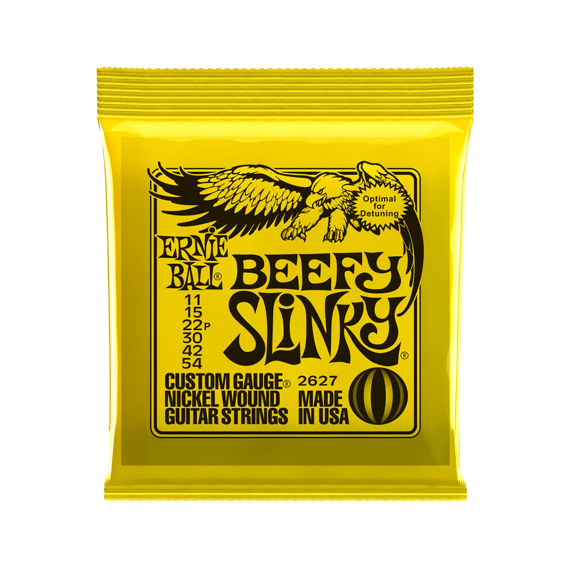 Ernie Ball Beefy Slinky Nickel Wound Electric Guitar Strings, 11-54