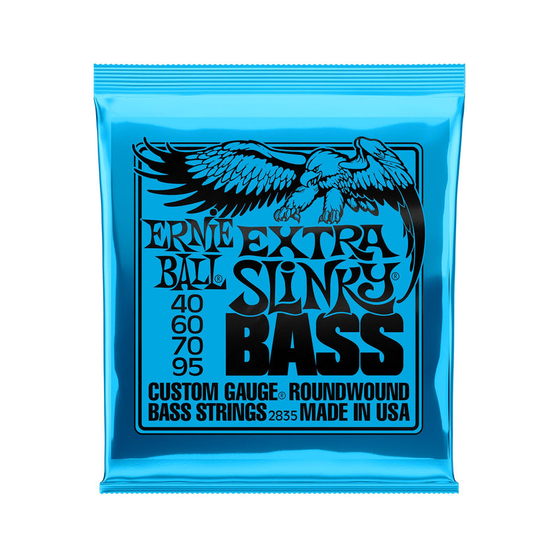 Ernie Ball Extra Slinky Nickel Wound Electric Bass Strings, 40-95