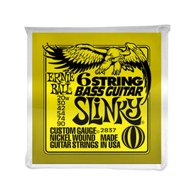 Ernie Ball Slinky 6-String w/Small Ball-End 29-5/8 Scale Bass Guitar Strings, 20w-90