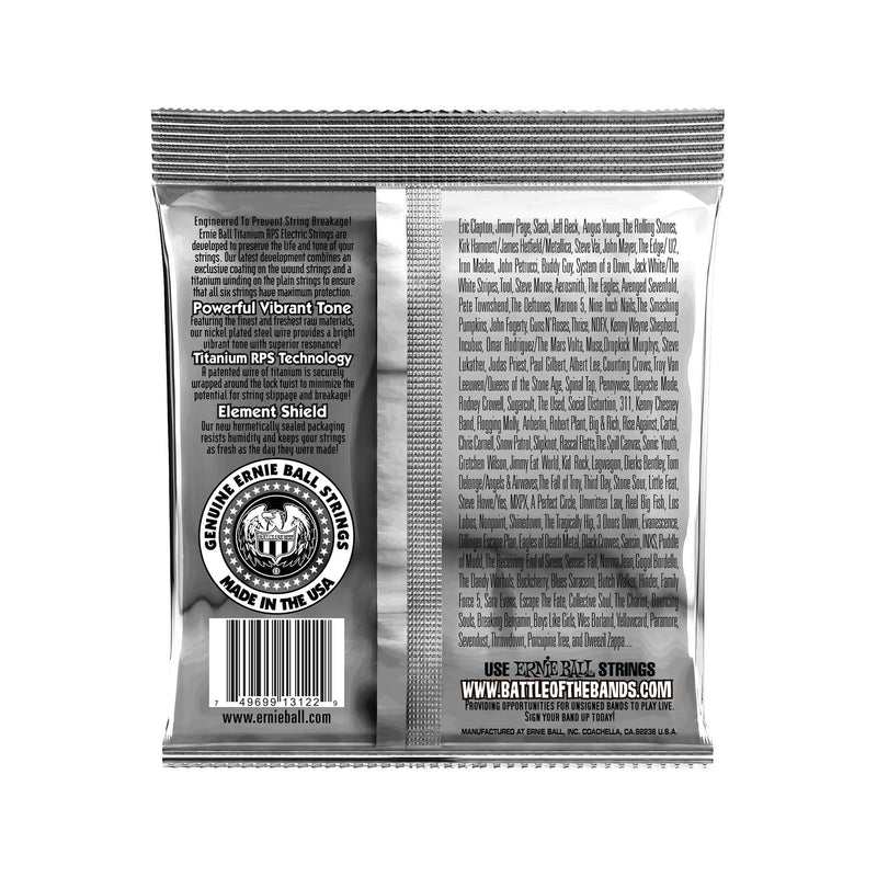 Ernie Ball Hybrid Slinky Titanium RPS Coated Electric Guitar Strings, 9-46
