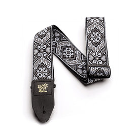 Ernie Ball Jacquard Guitar Strap, Tribal Silver