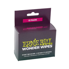 Ernie Ball Wonder Wipes Fretboard Conditioner, 6 Pack