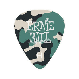 Ernie Ball Camouflage Cellulose Guitar Picks, Heavy, 12-Pack
