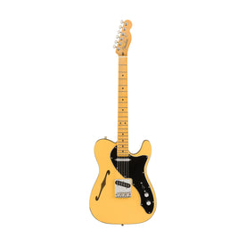 Fender Britt Daniel Signature Telecaster Thinline Electric Guitar, Maple FB, Amarillo Gold